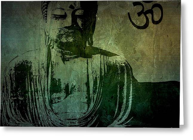 Buddah Greeting Cards - Buddha Greeting Card by Mike Grubb