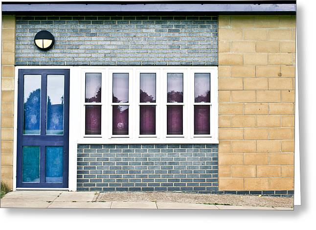 Gutter Greeting Cards - Building exterior Greeting Card by Tom Gowanlock