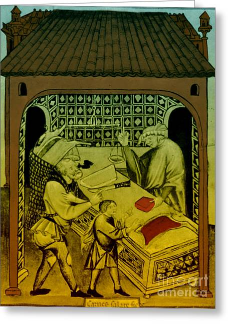 Butcher, Medieval Tradesman Greeting Card by Science Source