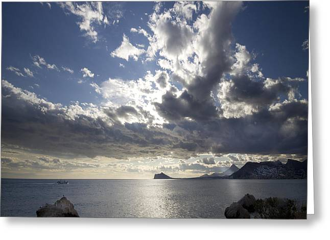 Costa Greeting Cards - By The Sea Greeting Card by Angel  Tarantella