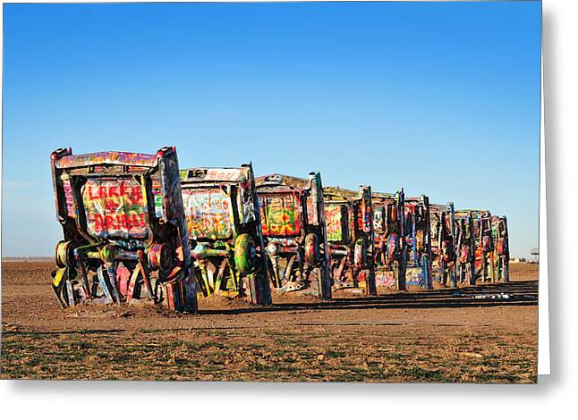 Installation Art Greeting Cards - Cadillac Ranch Greeting Card by Edwin Verin