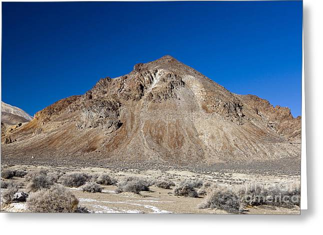 Snow Scene Landscape Greeting Cards - Calico Mountains Black Rock Desert Greeting Card by Jason O Watson