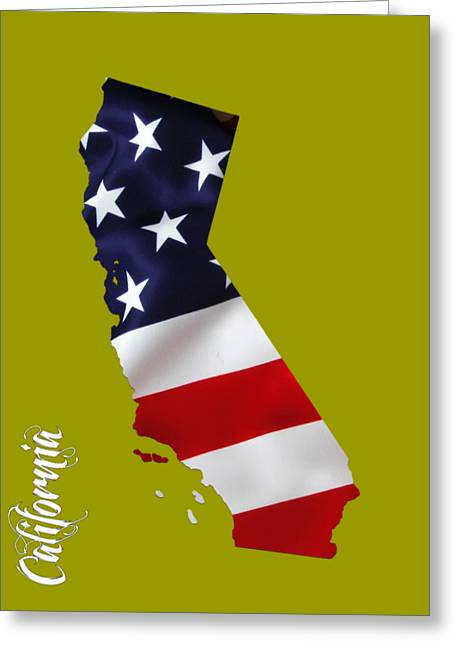 Color Image Greeting Cards - California State Map Collection Greeting Card by Marvin Blaine
