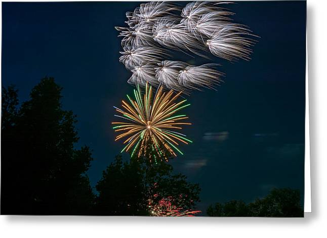 Fireworks Prints Greeting Cards - Canada Day Greeting Card by Steve Harrington