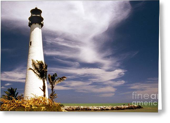 Ocean Art Photos Greeting Cards - Cape Florida Lighthouse Greeting Card by Skip Willits