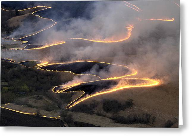 Carefully Managed Fires Sweep Greeting Card by Jim Richardson