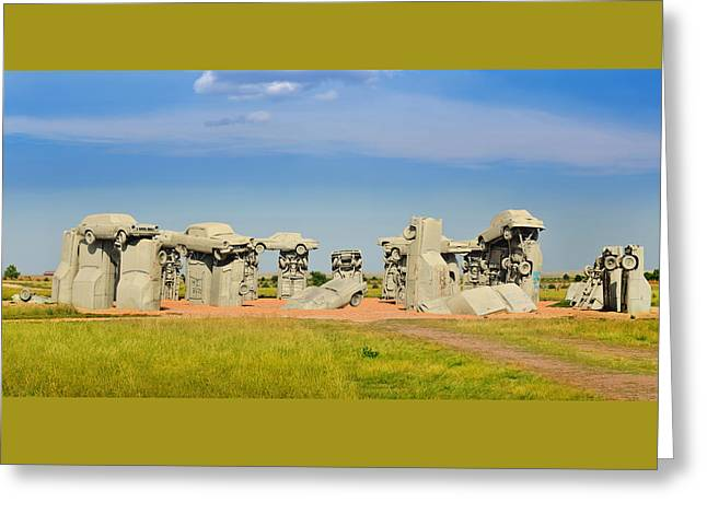 Carhenge Greeting Card by Edwin Verin