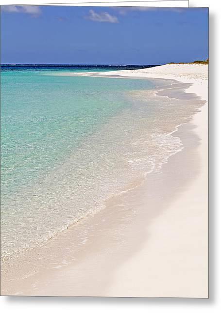 Ocean Shore Greeting Cards - Caribbean beach. Greeting Card by Fernando Barozza
