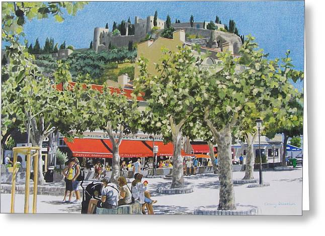 Provence Village Mixed Media Greeting Cards - Cassis sur Mer Greeting Card by Constance Drescher