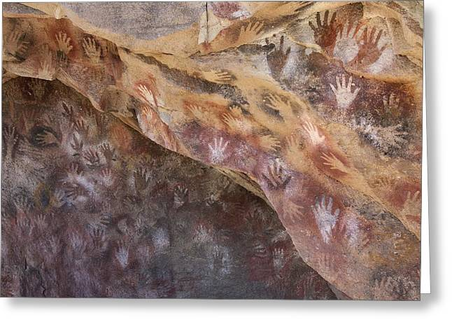 Anthropological Art Greeting Cards - Cave Of The Hands, Argentina Greeting Card by Javier Truebamsf