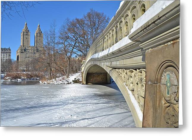 Ice-skating Greeting Cards - Central Park in NYC Greeting Card by Victoria Lipov