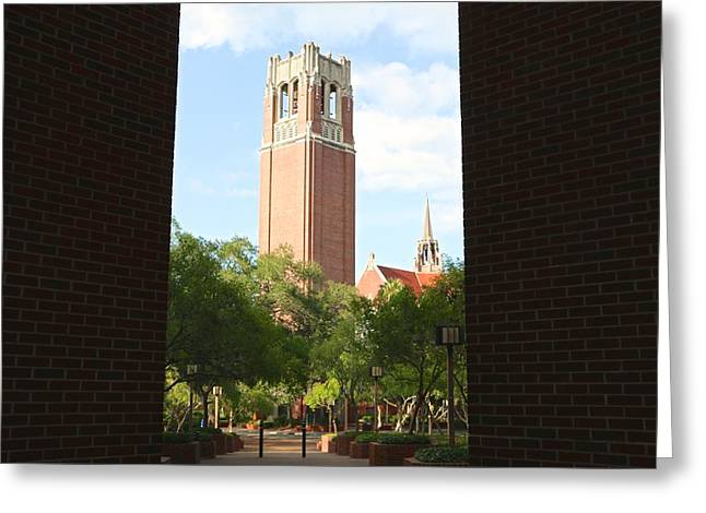 Sec Greeting Cards - Century Tower Greeting Card by Jackie Dorr