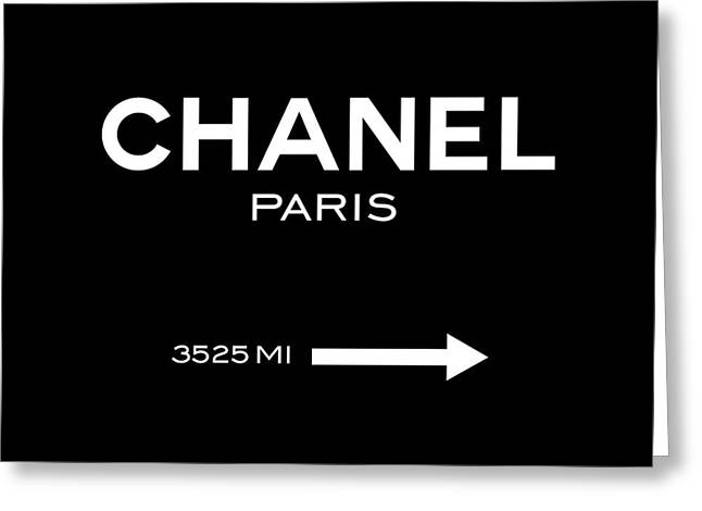 Chanel Paris Greeting Card by Tres Chic