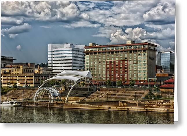 Charleston West Virginia Waterfront Greeting Card by Mountain Dreams