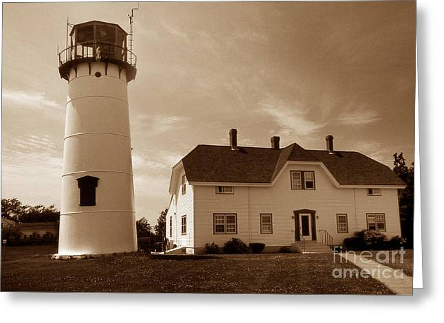 Chatham Greeting Cards - Chatham Lighthouse Ma Greeting Card by Skip Willits