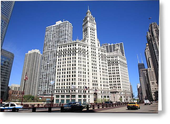 Chicago Skyline Greeting Card by Frank Romeo