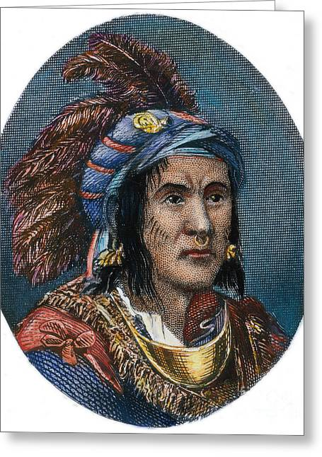 18th Century Greeting Cards - CHIEF PONTIAC (d.1769) Greeting Card by Granger
