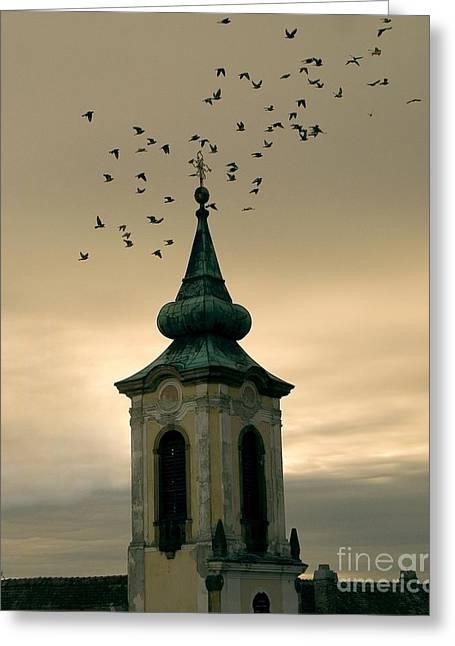 Czechia Greeting Cards - Church Greeting Card by Odon Czintos