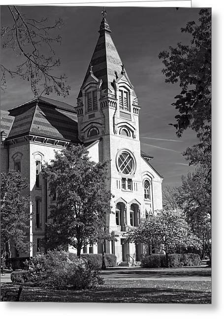 Indiana Autumn Greeting Cards - Church On The Campus Of Notre Dame Greeting Card by Mountain Dreams
