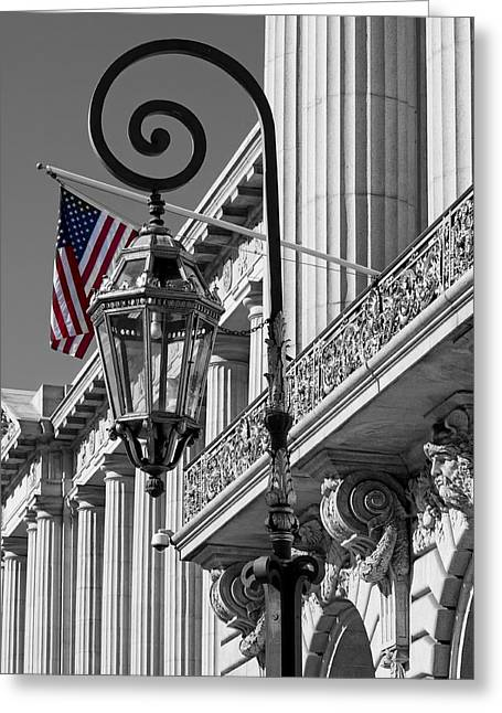 City Hall Greeting Cards - City Hall San Francisco - Architectural Detail Greeting Card by Mountain Dreams