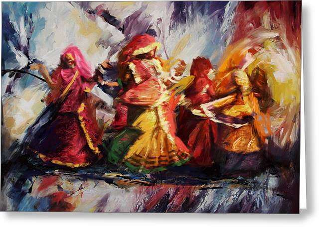 Sufi Dancer Greeting Cards - Classical Dance Art 16 Greeting Card by Maryam Mughal