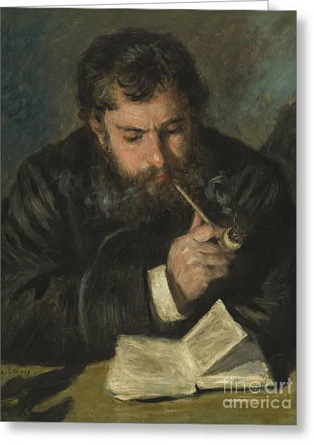 Claude Monet Greeting Card by Pierre Auguste Renoir