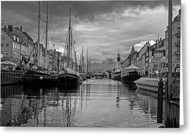 Copenhagen Denmark Greeting Cards - Cloudy Day in Copenhagen  Greeting Card by Eric Haidara