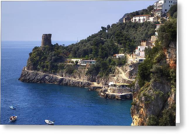 Furore - Coast Of Amalfi Greeting Card by Joana Kruse