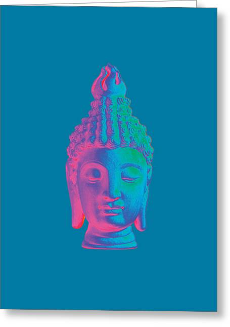 Zen Sculptures Greeting Cards - colorful Buddha - Sukhothai Greeting Card by Terrell Kaucher