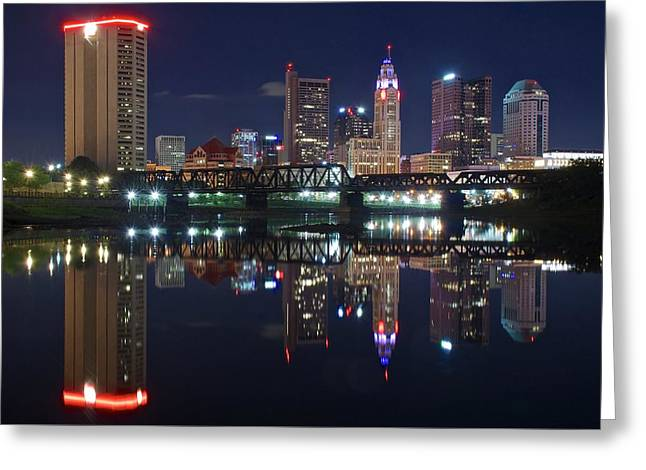 Columbus Ohio Greeting Card by Frozen in Time Fine Art Photography