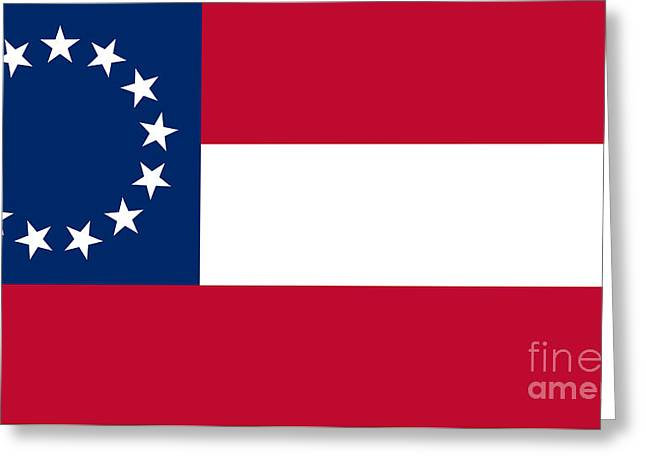Confederate Flag Greeting Cards - Confederate Flag Greeting Card by Frederick Holiday