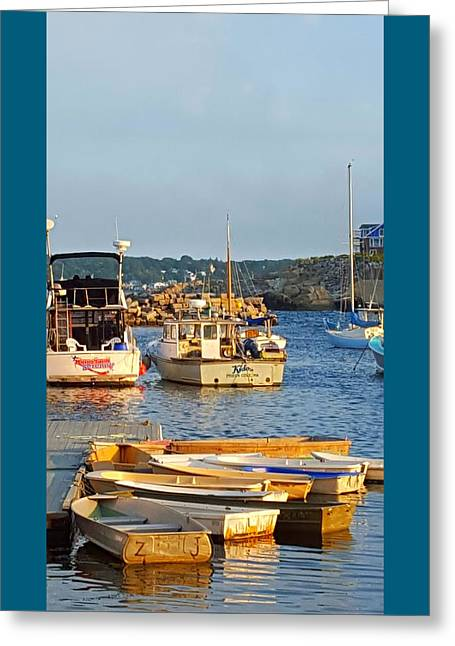 Wooden Building Greeting Cards - Cove Skiffs Greeting Card by Harriet Harding