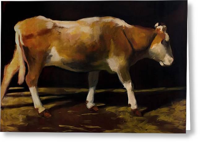 Steer Greeting Cards - Cow Greeting Card by Robert Nizamov