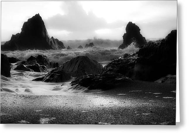 Crashing Of The Waves  Greeting Card by Mountain Dreams
