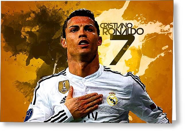 Cristiano Ronaldo Greeting Card by Semih Yurdabak