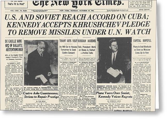 Cuban Missile Crisis Greeting Cards - Cuban Missile Crisis, 1962 Greeting Card by Granger