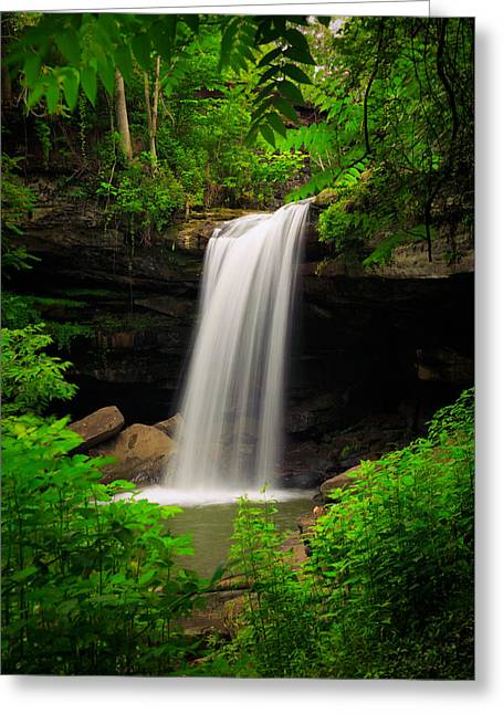 Irvine Greeting Cards - Cucumber Falls Greeting Card by Emmanuel Panagiotakis