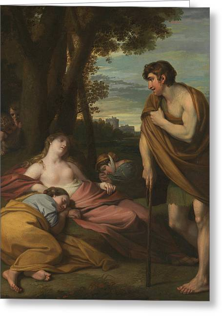 Cymon And Iphigenia Greeting Card by Benjamin West