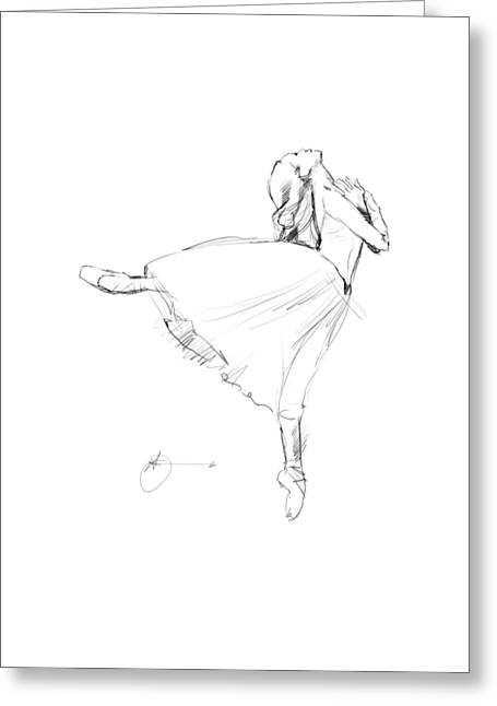 Gestures Greeting Cards - Dancer Greeting Card by H James Hoff