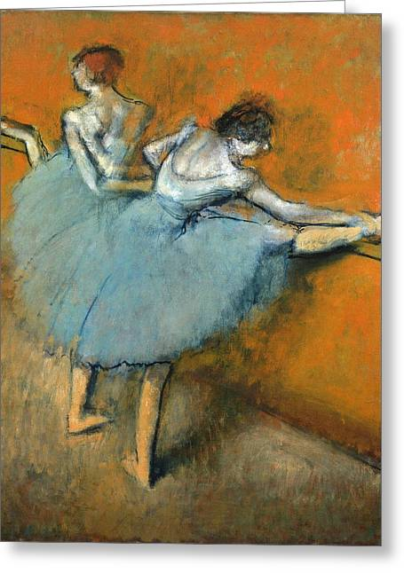 Edgar Home Greeting Cards - Dancers At The Barre Greeting Card by Edgar Degas