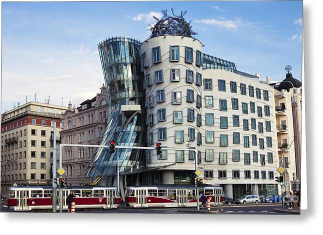 Famous Bridge Greeting Cards - Dancing Houses Greeting Card by Andre Goncalves