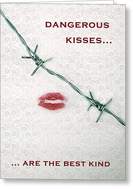 Violiating Greeting Cards - Dangerous Kisses Greeting Card by Joana Kruse