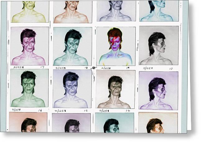 David Bowie Ziggy Stardust Painting 1 Greeting Card by Tony Rubino