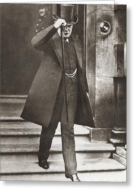 Wwi Greeting Cards - David Lloyd George, 1st Earl Greeting Card by Ken Welsh