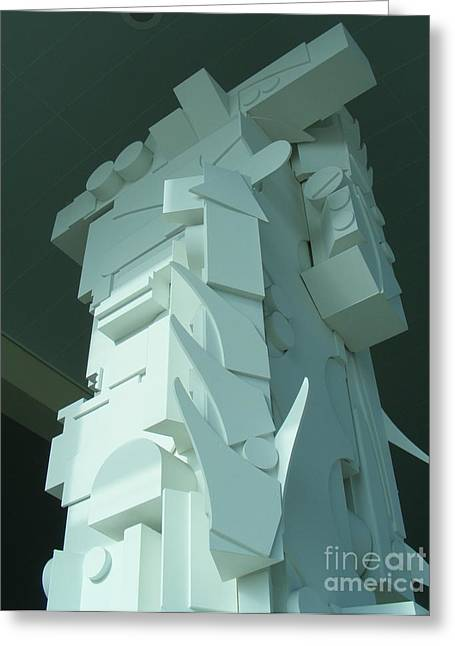 Geometric Sculptures Greeting Cards - The Art of Nevelson Greeting Card by Nancy Kane Chapman
