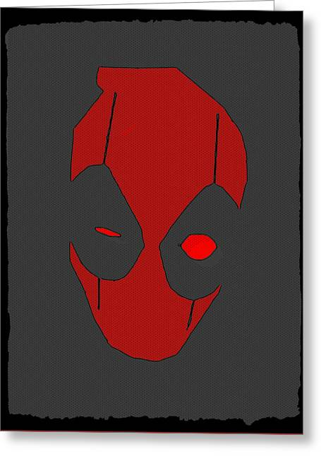 Deadpool Greeting Card by Kyle West