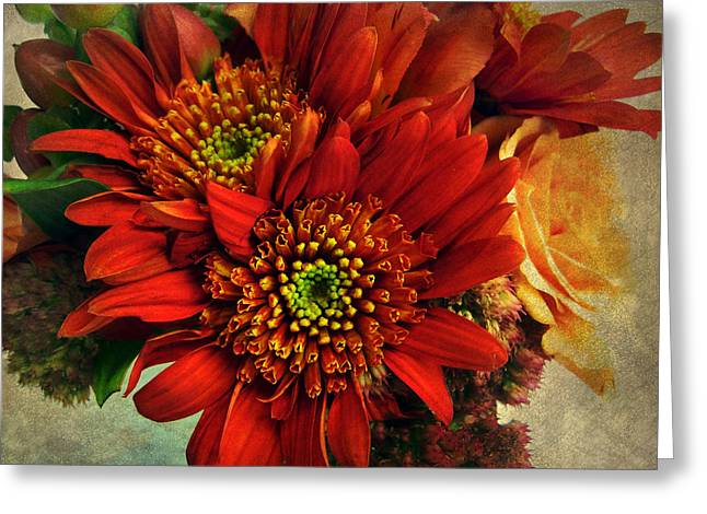 Floral Digital Art Greeting Cards - Deeply Greeting Card by Jessica Jenney