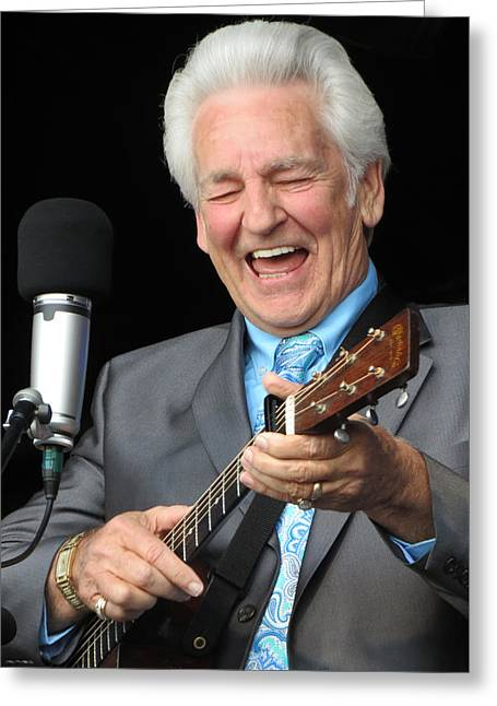 Gospel Greeting Cards - Del McCoury - 02 Greeting Card by Julie Turner