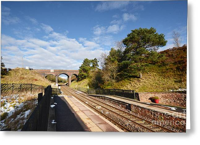 Dent Railway Station Greeting Card by Stephen Smith