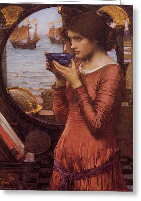 Destiny Paintings Greeting Cards - Destiny Greeting Card by John William Waterhouse